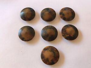 7 boutons anciens Art Déco bakélite  diamètre 25 mm réf 41