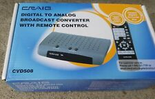 Craig Electronics CVD508 Digital To Analog Broadcast TV Converter with Remote