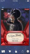 Topps Star Wars Digital Card Trader Red Signature Rune Haako Insert
