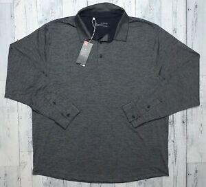 NEW! Under Armour Golf Heat Gear Men's Long Sleeve Polo Shirt Size 2XL XXL NWT