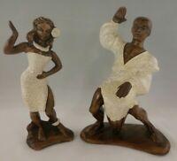 VNTG Hawaiian Hula Dancer Set Treasure Craft Hawaii Tiki 1950/60s Rare Drummer