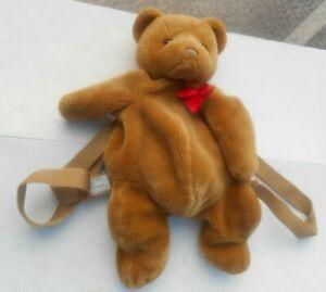 Vintage TEDDY BEAR Back Pack Bag Plush