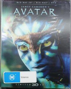 "AVATAR (BLU-RAY 3D + 2D + DVD, 2012, 2-DISC SET) BRAND NEW / SEALED ""REG B / 4"""