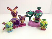 Spin Master Zoobles Mixed Lot Of 7 Pcs Momma Baby 4 Zoobles Habitats