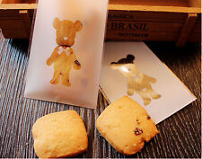 100pcs Teddy Bear Clear Cellophane Loot Gift Candy Cookies Sweet Party Treat Bag