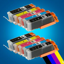 10 Ink Cartridges for Canon Pixma MG5750 MG5751 MG5752 MG5753 MG6850 MG6851 P