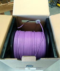 Quality Cat6A S/FTP 99% copper Oxygen FREE Tough Shielded 305m Purple roll