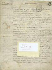 1785+Bray sur Seine+Duc de Mortemart+Chateau d'Everly+Parchemin velin