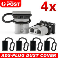 4x Dust Cap For Anderson Plug Cover Style Connectors 50AMP Battery Caravn 12-24V