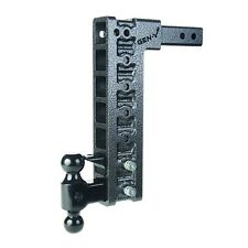 """Gh-327 15"""" Adjustable Drop Hitch, 2"""" Shank, 10K Towing, Dual Ball and Pintle"""
