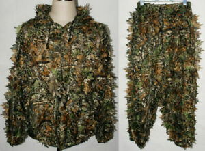 Realtree Camo Hunting Leaf Net Ghillie Suit Jacket And Trousers