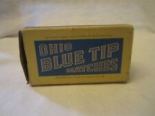 Vintage Ohio Blue Tip Matches Country Store Cardboard Rectangle Box Empty