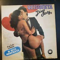 """Tito Delgado y Su Orquesta """"Quisqueya Disco Party"""" Vinyl Record LP Merengue"""
