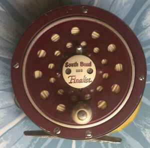 Vintage ca.1960's South Bend Brand FINALIST 1133 Crimson Fly Fishing Reel - USED