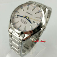 41mm corgeut white dial sapphire glass Steel watchband Automatic mens Watch 2861