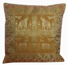 "16"" Indian Brocade Silk Cushion Cover Embroidery Throw Pillow Bohemian Decor"