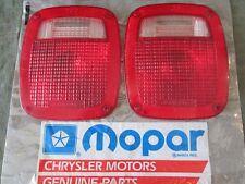 NOS 79 78 77 76 MoPar Dodge Truck Warlock Lil Red Express Tail Light Lens PAIR