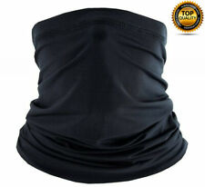 Multi-use Tube Scarf Bandana Head Face Mask Neck Gaiter Outdoor Head Wear Black