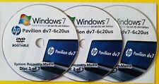 HP Pavilion dv7-6c20us Factory Recovery Media 3-Discs Set / Windows 7 Home 64bit