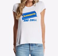 BLOCKBUSTER AND CHILL Girls Women's Junior Fit T-Shirt NWT Licensed & Official
