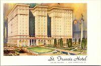 Vtg 1910's St Francis Hotel, Union Square San Francisco California CA Postcard a