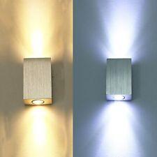 6w warmweiß Led wandlampe Wandleuchte  Wandstrahler Rechteck Lampe mit Erdung DE
