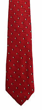 Men's New Silk Neck Tie, Classic Wide, Red triangle dot design by Neo Bill Blass