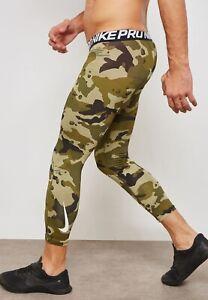 Men's Nike Dri-Fit Pro 3/4 Training Tights AQ1197-395 Olive Camo