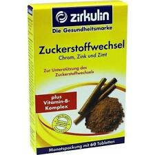 ZIRKULIN Zuckerstoffwechsel Zimt Plus Tabletten 60St 4240273