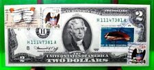 US $2 DOLLARS 1976 FEDERAL RESERVE NOTE ST LOUIS  BUTTERFLY GEM UNC  H11147381A