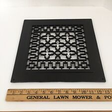 "Antique Cast Iron Wall, Floor Grate Vent - Refinished - Painted Black  13"" x 13"""