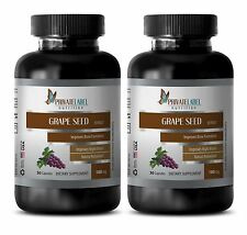 Antioxidant grape seed GRAPE SEED EXTRACT 100mg immune support formula 2 Bottles