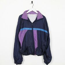 Vintage 90s ABSTRACT Zip Up Soft Shell Windbreaker Jacket Blue Medium M