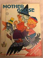 MOTHER GOOSE ~ Vintage Children's Rand McNally Junior Elf Book