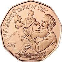 Österreich 5 Euro 2017 Neujahrsmünze  Donauwalzer Kupfermünze bankfrisch