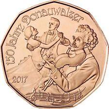 Österreich 5 Euro 150 Jahre Donauwalzer 2017 bfr Neujahrsmünze aus Kupfer