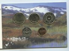 GN1026 - Norwegen Kursmünzensatz 2001 UNC KMS Original Coins Mint Set Norway