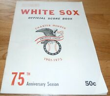 1975 CHICAGO WHITE SOX VS OAKLAND A's UNSCORED SCORECARD-PROGRAM 4