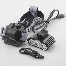 2 ways  T6*3 Led USB Headlight & Bicycle bike riding Light Frontal Head Lamp