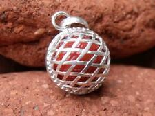 ORANGE HARMONY/CHIME BALL/ANGEL CALLER HANDCRAFTED BALINESE 925 SILVER PENDANT