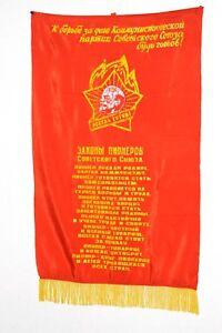100% Original Soviet Russian USSR pioneer commandment soviet pennant banner