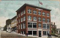Postcard Townsend Block Boothbay Harbor ME