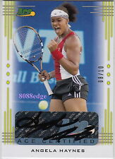 2013 Ace Authentic Tennis Auto: Angela Haynes #8/10 Autograph 2x Itf Titles Usa