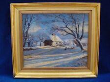 *Winterlandschaft*19.Jahrhundert,Ölgemälde/Lw. Umkreis Eilif Peterssen, Norwegen