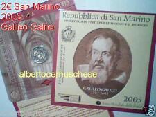 2005 2 euro commemorativo Galileo GALILEI SAN MARINO Saint Marin Сан - Марино