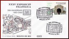 ESPAÑA SOBRE MATASELL ESP.03 EXP.FILAT. MOLINS DE REI