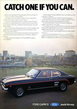 FORD CAPRI 'S'  RETRO A3 POSTER PRINT FROM CLASSIC 70'S ADVERT