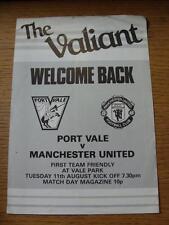 11/08/1981 Port Vale v Manchester United [amigable] cuatro páginas (plegado)