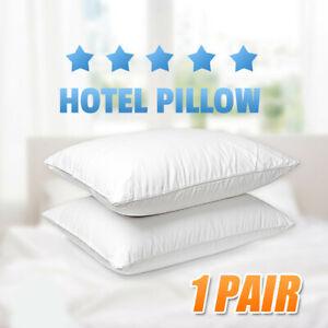 2x Hotel Grade Premium Comfort Pillow 48x73cm Cotton Cover Microfibre Filling AU