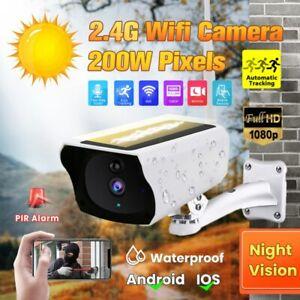 1080P Solaire IP Caméra Sans Fil WiFi Surveillance de sécurité Extérieur Étanche
